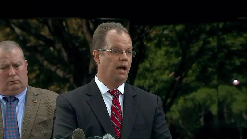 Attorney Rich Stafford speaks to media