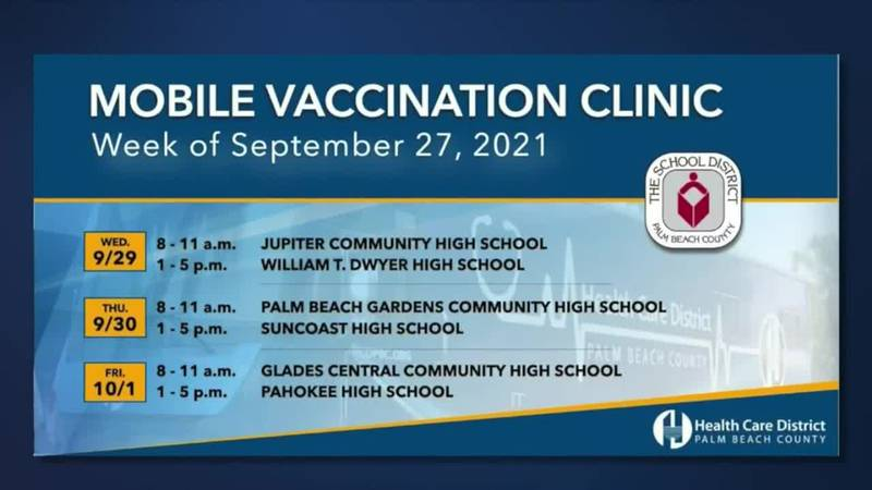 Students in Palm Beach County will have another chance to get their vaccines with help from the...