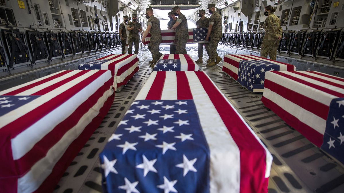 FILE - In this Aug. 12, 2020, file photo, provided by the U.S. Marine Corps, U.S. Marines and...