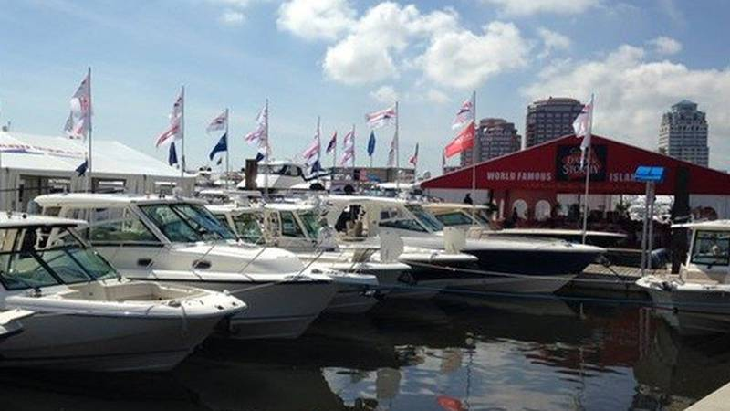 Preparations are underway for Palm Beach International Boat Show