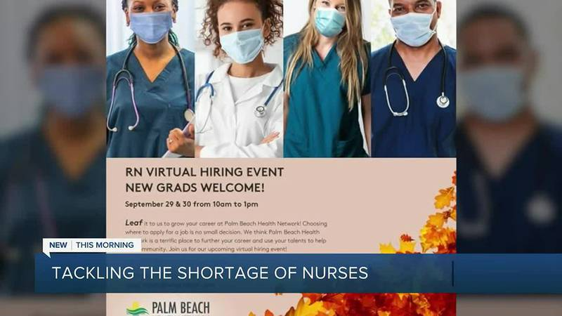 There's a shortage of nurses nationwide and hospitals across South Florida are offering...